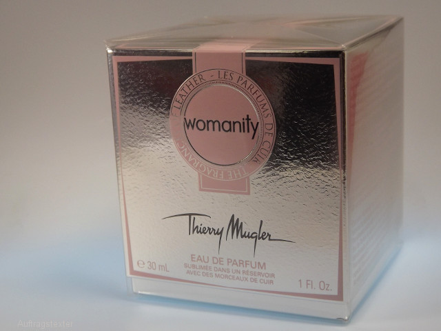 Thierry Mugler Womanity Fragrances Of Leather Parfums De Cuir 30 ml Box