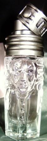 Womanity Flakon aus Glas und Metall