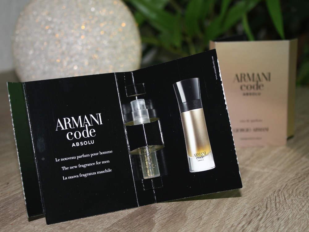Männerparfüm Armani Code Absolu pour homme Duftprobe
