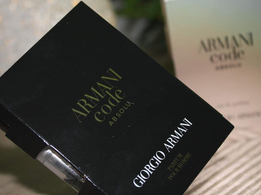 Neue Herrendüfte: Armani Code Absolu pour homme Duftbeschreibung