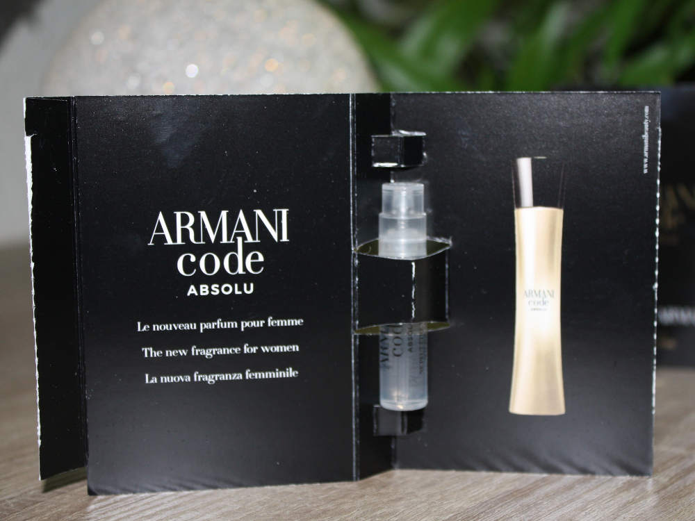 Armani Code absolu pour femme Duftprobe