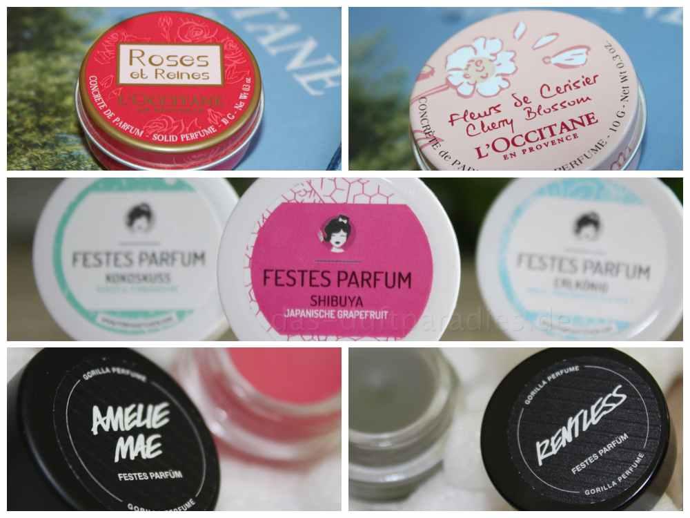 Erfahrung: Festes Parfüm von Lush, Ponyhütchen und Loccitane