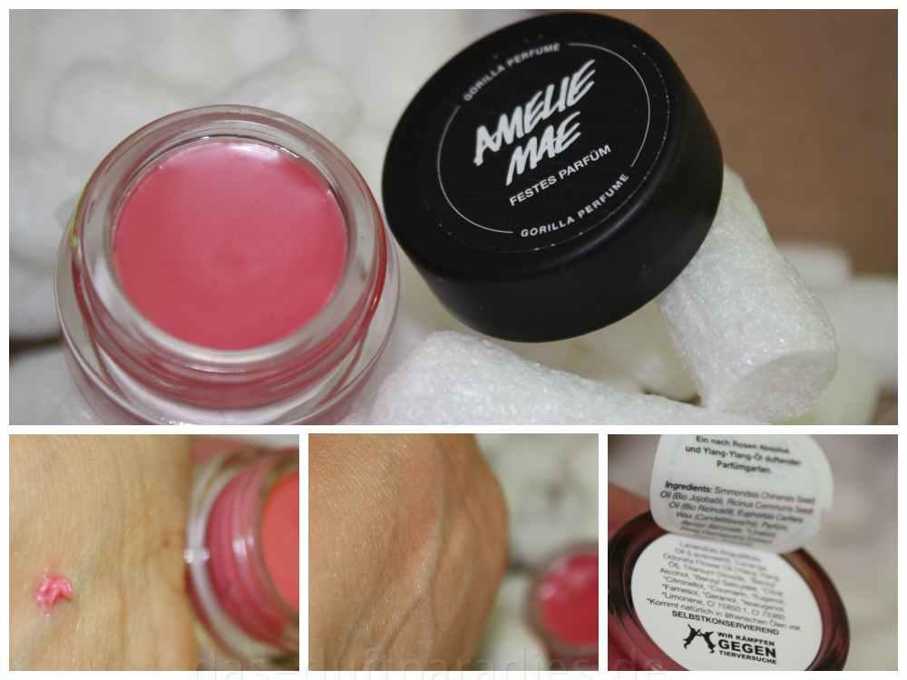 Duftbeschreibung von Lush Amelie Mae festes Parfüm