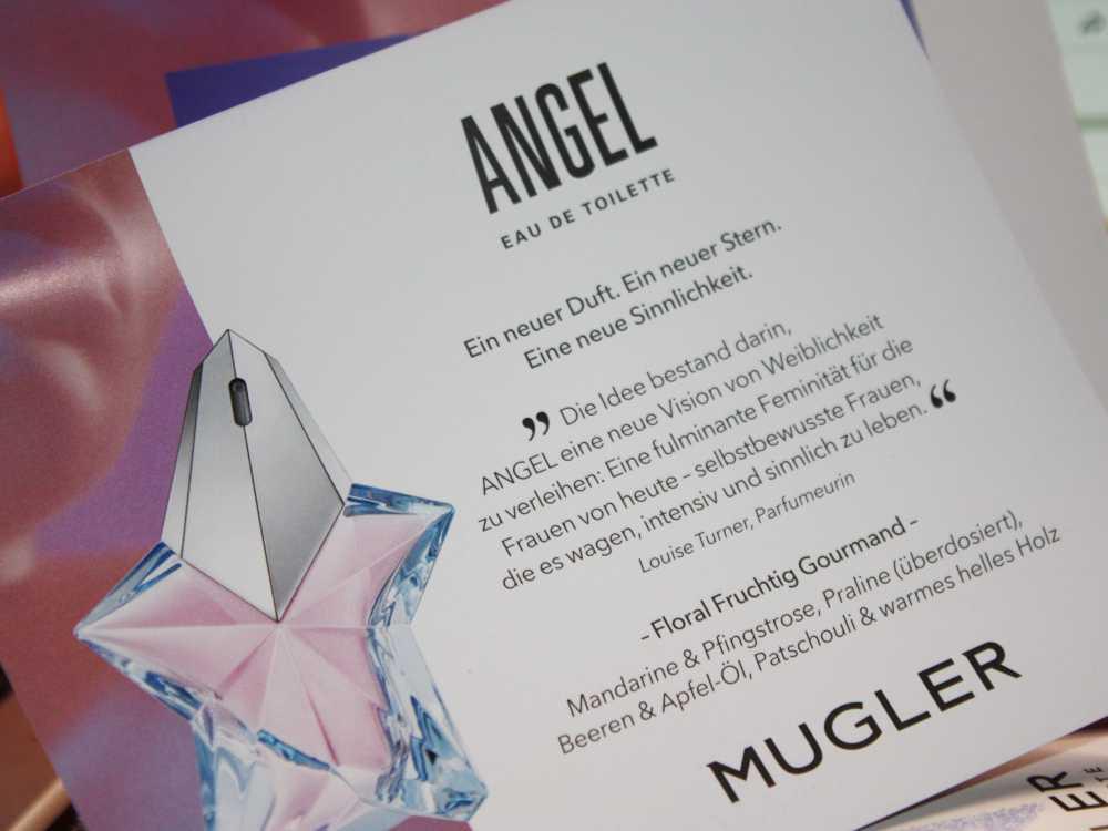 Widmung der Parfümeurin Louise Turner Mugler Angel Eau de Toilette 2019