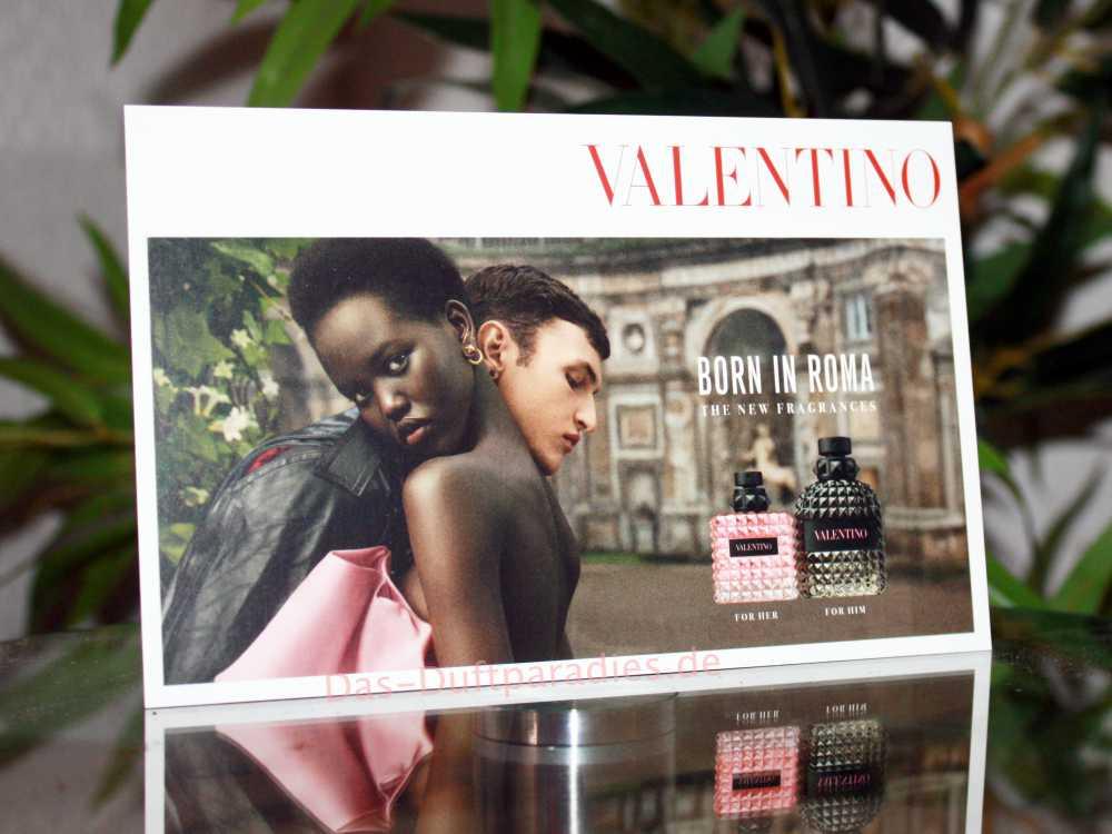 Karte von Valentino Born in Roma Parfum