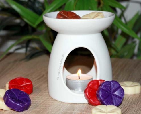 Duftlampe mit Duftwachs für angenehmen Duft im Wohnraum
