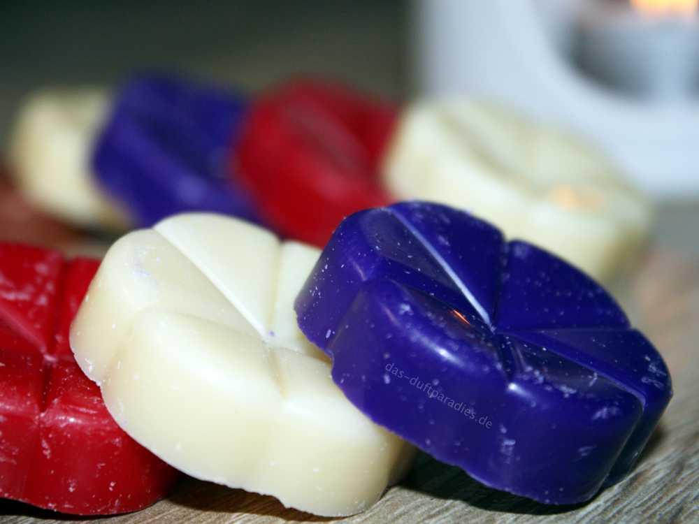 Dufttarts für Duftlampen in verschiedenen Farben und Duftrichtungen