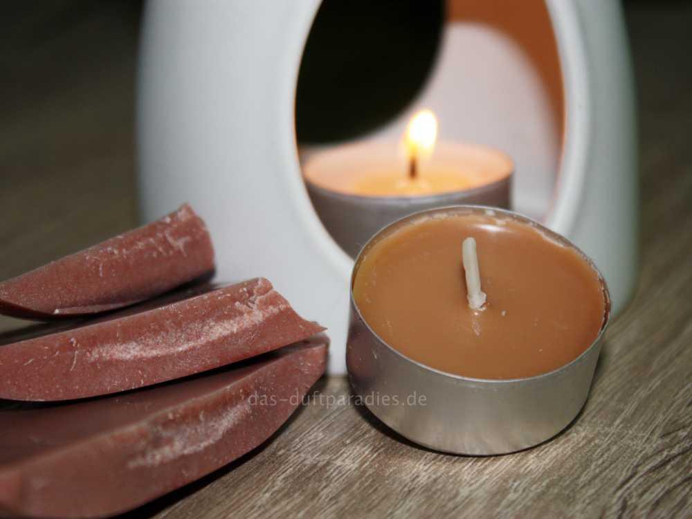 Duftwachs wiederverwertet: einschmelzen und neue Kerzen gießen
