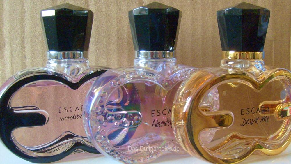 Die drei Düfte der ESCADA Me Duftkollektion