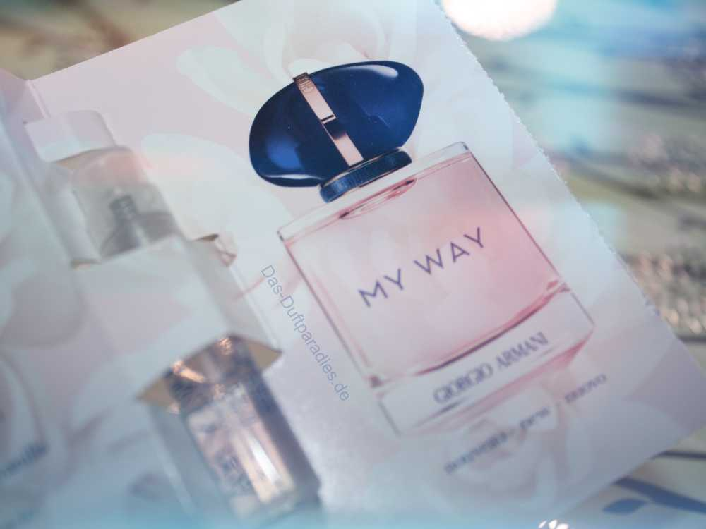 Giorgio Armani My Way EdP Parfuemprobe - ein Blick auf den hübschen Parfümflakon