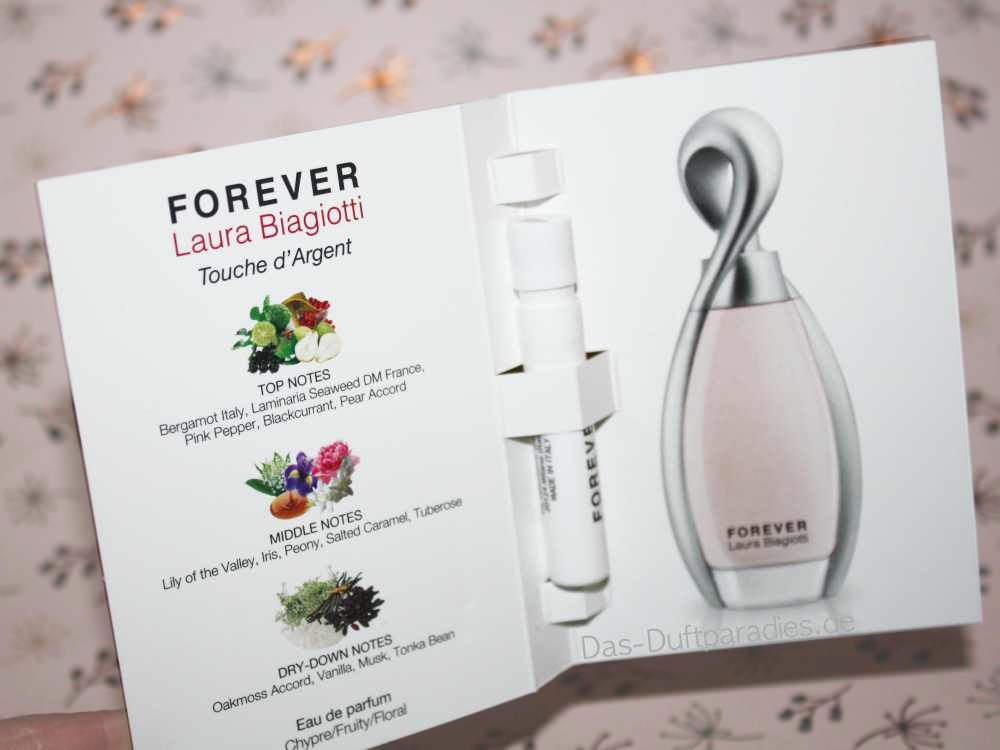 Forever Laura Biagiotti Touche d Argent Parfuem - die Dutnoten des Parfums