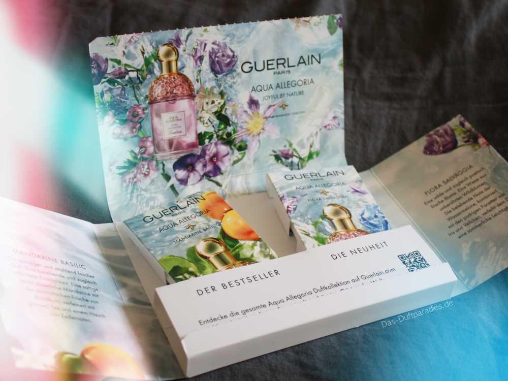 Guerlain Aqua Allegoria Duftkollektion Parfümprobe zweier Damendüfte