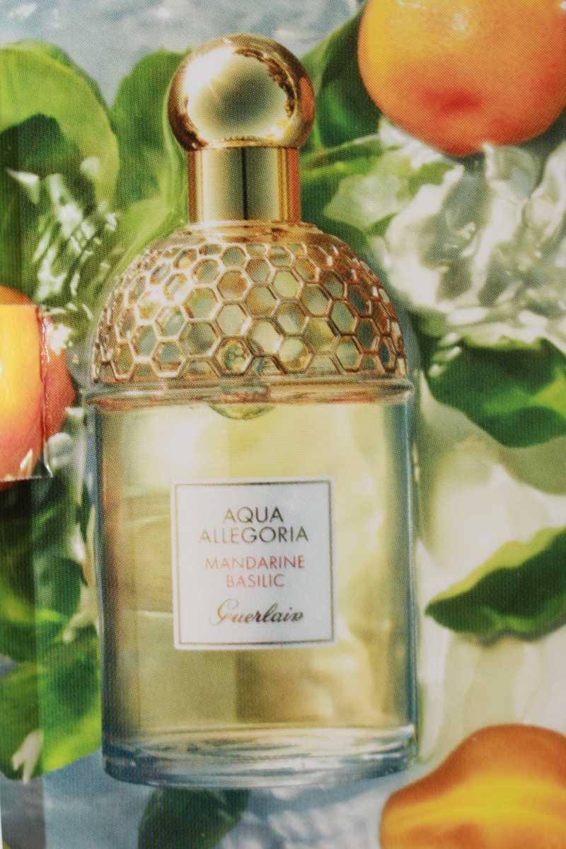 Wunderschöner Parfümflakon von Guerlain Mandarine Basilic Aqua Allegoria EdT
